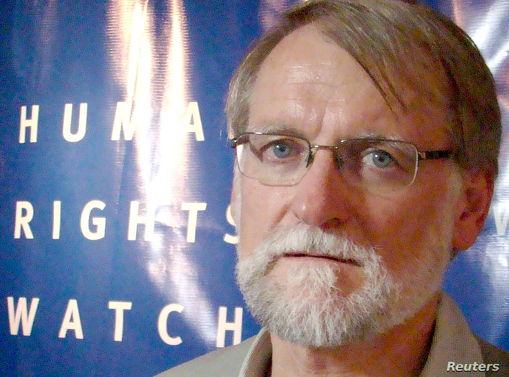 Bill Frelick, Human Rights Watch Refugee program director, September 2012. (VOA - R. Corben)