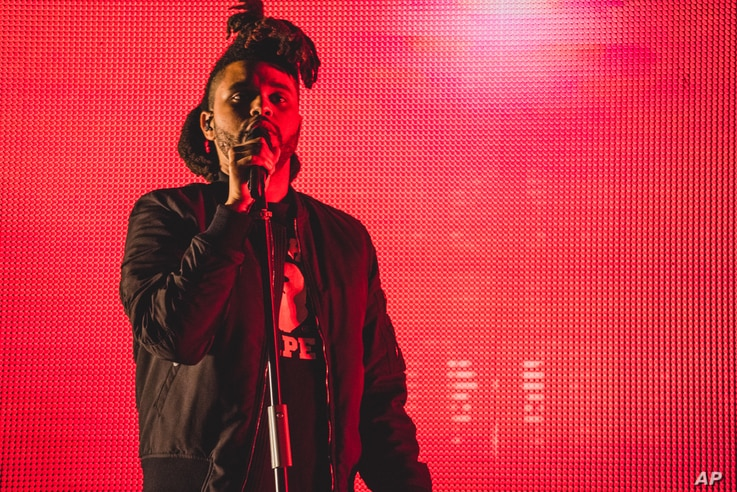 The Weeknd performs at Made in America on Sept. 6, 2015, in Philadelphia.