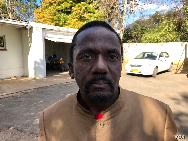 "Jameson Timba, the chief election agent for the opposition Movement for Democratic Change Alliance in Harare, says the Zimbabwe Electoral Commission is committed to preside over ""manipulated"" polls. (S. Mhofu/VOA)"