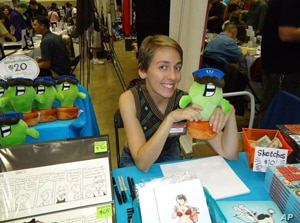 Danielle Corsetto, creator of 'Girls with Slingshots,' earns income from ads as well as from the sale of comic-inspired merchandise.