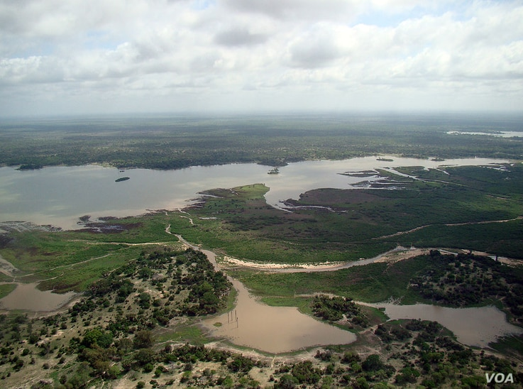 Aerial view of the Selous Game Reserve, Tanzania. (Wikimedia)