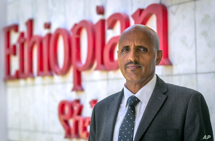 Tewolde Gebremariam, Chief Executive Officer of Ethiopian Airlines, poses for a photograph after speaking to The Associated Press at Bole International Airport in Addis Ababa, March 23, 2019.