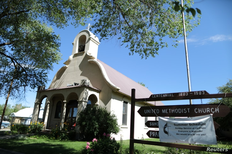 The United Methodist Church where undocumented immigrant Rosa Sabido lives in sanctuary while facing deportation is seen in Mancos, Colorado, July 19, 2017.