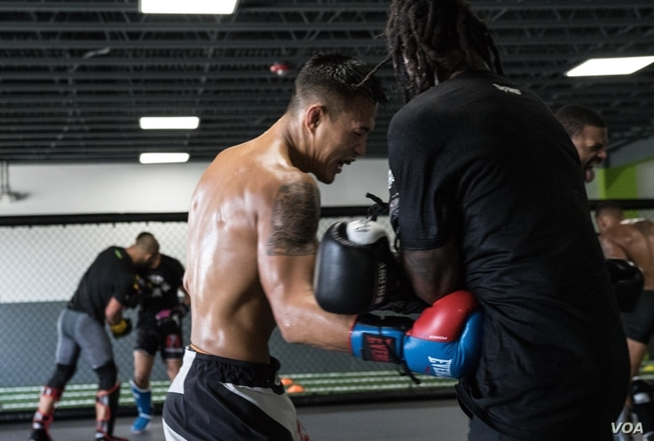Andre Soukhamthath Lao American UFC Fighter Training