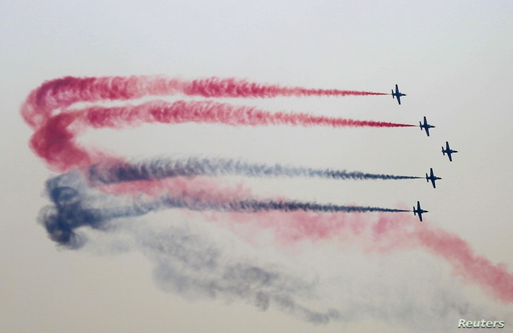 Egyptian Air Force holds an air show displaying F-16 aircrafts delivered to Egypt by U.S., as part of a military package that had been unfrozen earlier this year, in Cairo, Egypt, July 31, 2015.