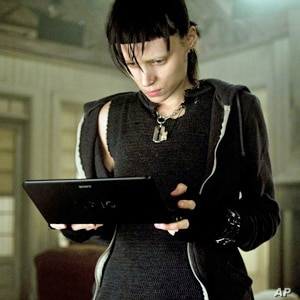 """Rooney Mara Rooney as Lisbeth Salander, a punk computer hacker in """"The Girl With the Dragon Tattoo."""""""