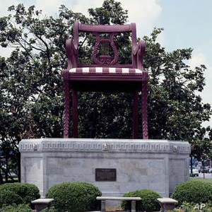 "James Harvey's ""The Chair,"" based on a design of an actual chair by Duncan Phyfe in ""Chair City"" Thomasville, North Carolina."