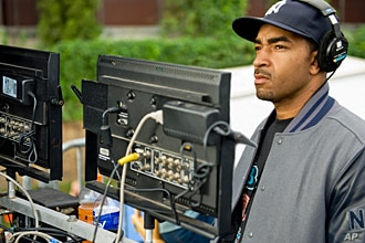 Director ERIK WHITE on the set of Alcon Entertainment's comedy 'LOTTERY TICKET', a Warner Bros.