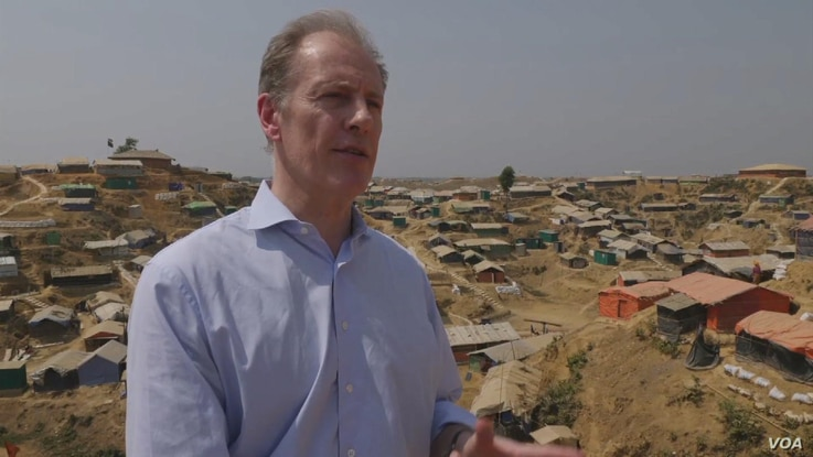 Andrew Gilmour, UN Assistant Secretary-General for Human Rights visits Rohingya camp in Bangladesh.