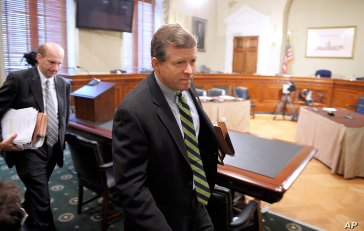 """FILE - Rep. Charles Dent, R-Pa., pictured at a Capitol Hill hearing in November 2010, says he remains concerned about Donald Trump's """"incendiary"""" comments and his """"lack of policy specificity."""""""