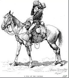 Renowned western artist Frederic Remington depicted a hardworking black cowboy.