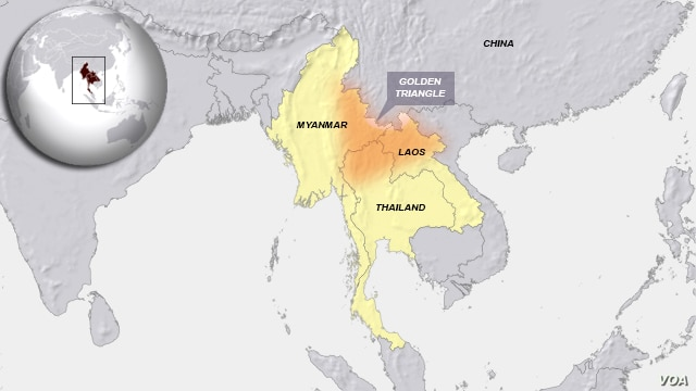 Golden Triangle region of South East Asia