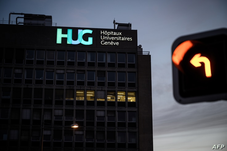 A picture taken on March 3, 2019 in Geneva shows the Geneva University Hospitals (HUG) building. Algeria's President Abdelaziz Bouteflika remains at a Swiss hospital as protests grow in his country, the Tribune de Geneve newspaper reported.