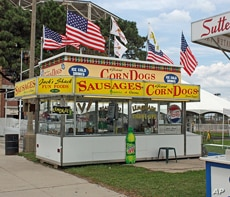 Deep-fried fatty foods are part of the fair-going experience.