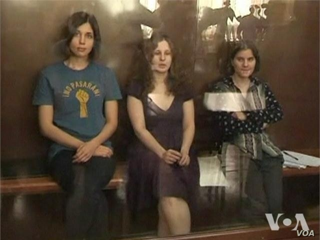 Watch related video of all-female punk rock band trial in Russia