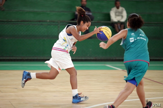As part of the During the 'One Win Leads to Another,' progtram, sport helps girls gain confidence in their strength and abilities, which they can then apply to overcome other challenges, at Olympic Vila of Mangueira, north of Rio de Janeiro, Braz...