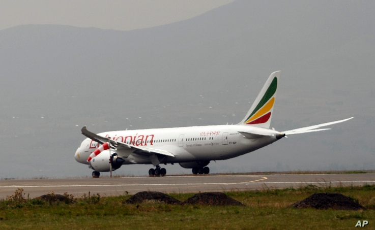 Ethiopian Airliner 787 Dreamliner prepare to take off from Addis Ababa, April 27, 2013.