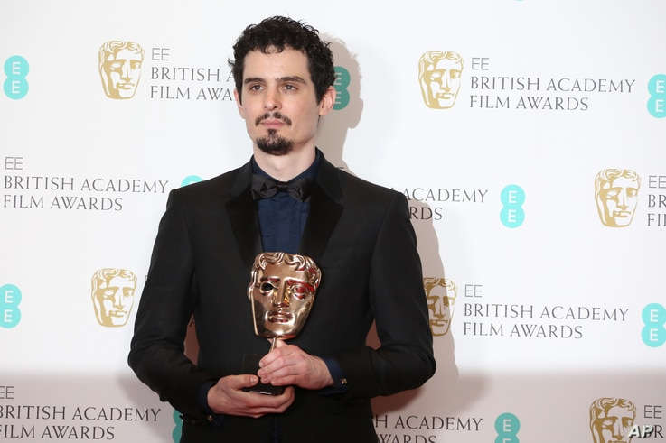 Damien Chazelle at the British Academy Film Awards in London, Sunday, Feb. 12, 2017.