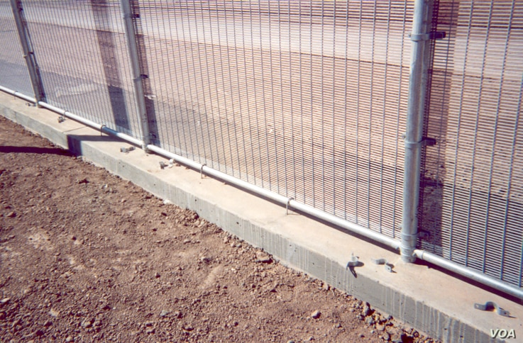Riverdale Mills says mesh openings in fencing can be made too small to allow people to get a grip with their fingers or to allow a cutter to work effectively.