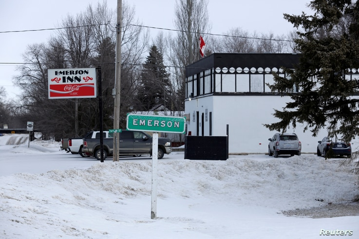 The Emerson Inn, where a group of migrants gathered and were fed breakfast after arriving from the United States to enter Canada, is seen in Emerson, Canada, Feb. 25, 2017.