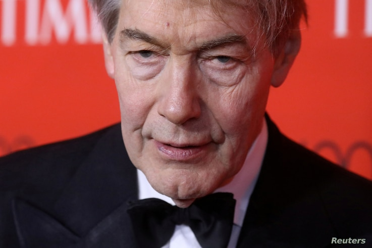 FILE - TV host Charlie Rose arrives for the Time 100 Gala in the Manhattan borough of New York, New York, U.S., April 25, 2017.