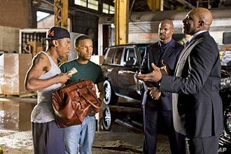 BRANDON T. JACKSON as Benny, BOW WOW as Kevin Carson, TERRY CREWS as Jimmy The Driver and KEITH DAVID as Sweet Tee in Alcon Entertainment's comedy 'LOTTERY TICKET', a Warner Bros.