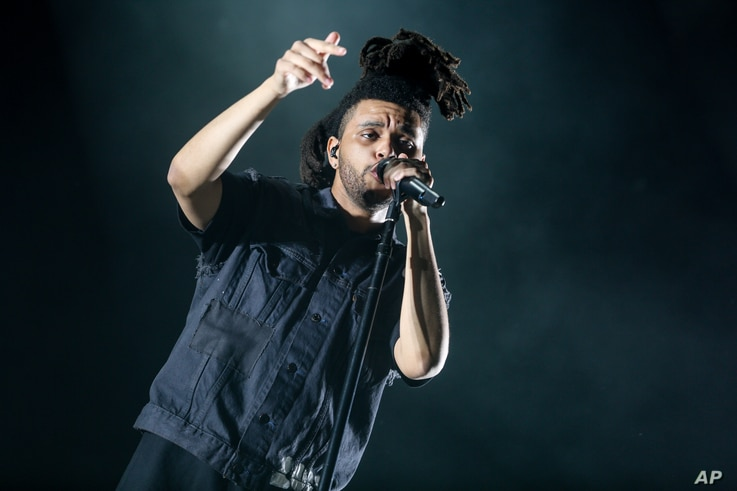 The Weeknd performs at the 2015 Coachella Music and Arts Festival on April 18, 2015, in Indio, Calif.