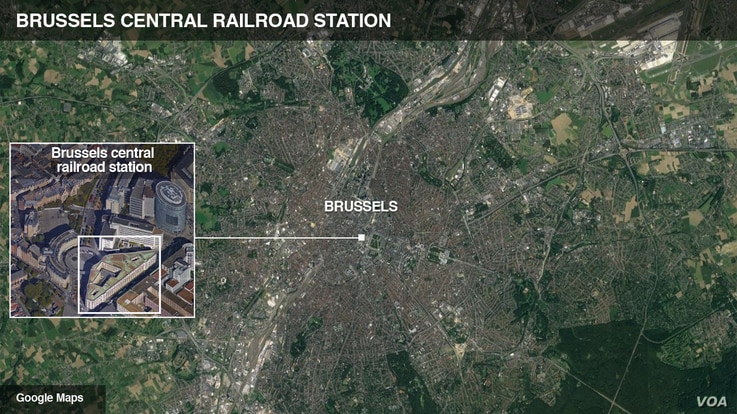 Brussels central railroad station