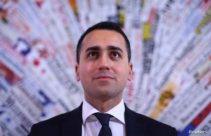 Luigi Di Maio of the 5-Star Movement looks on as he attends a news conference in Rome, Italy, March 23, 2017.