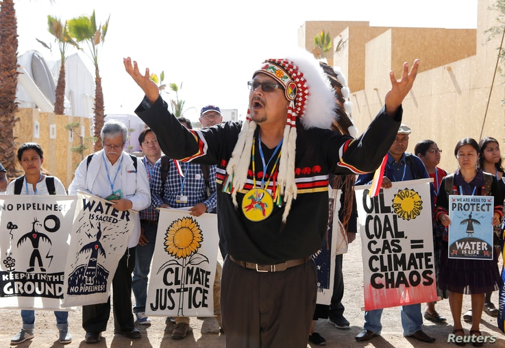 REUTERS Indigenous Peoples Protest at UN Climate Change Conference in Morocco