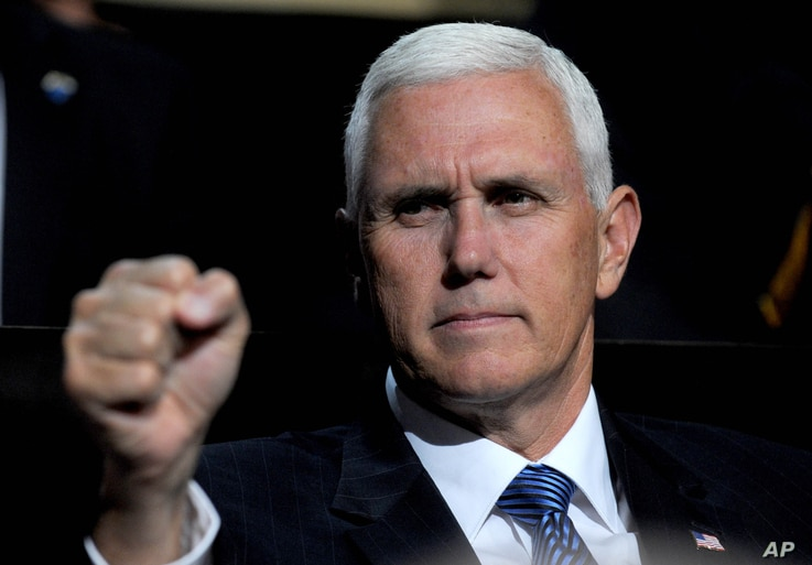 Mike Pence at day 2 of The 2016 Republican National Convention in Cleveland, Ohio, July 19, 2016.