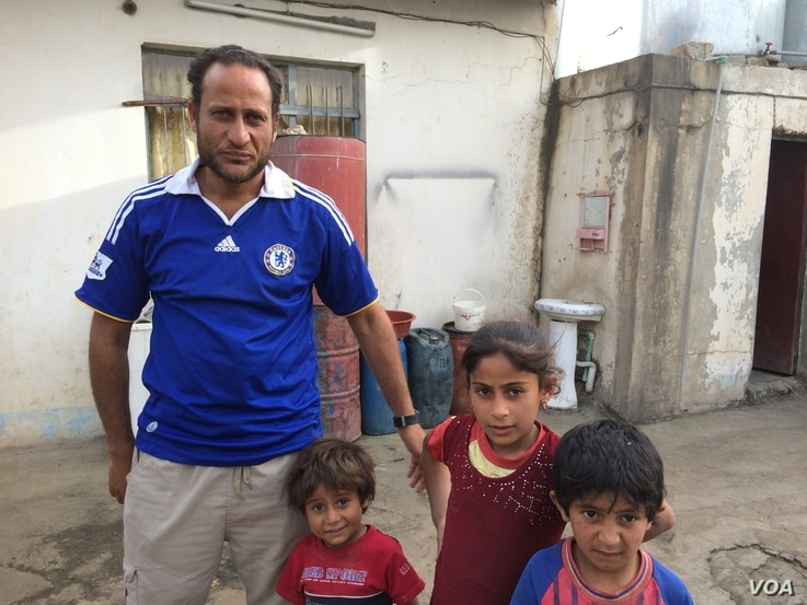 Sabhan, 35, and his family stayed in their Mosul neighborhood when the rest of the residents fled.  He says he could not move his elderly mother, but now with the threat of starvation and no clean water, he is considering bringing them to a camp, May...