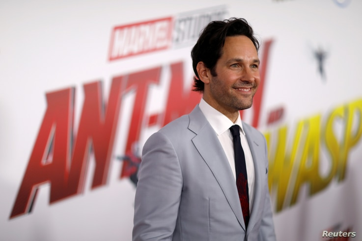 """Cast member Paul Rudd, who plays Ant-Man, attends the premiere of the movie """"Ant-Man and the Wasp"""" in Los Angeles,  June 25, 2018."""