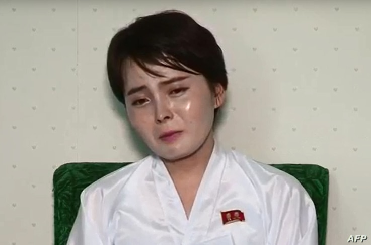 This undated screen grab taken on July 19, 2017, from video posted by www.uriminzokkiri.com shows North Korean defector Lim Ji-Hyun, who appeared in several South Korean TV shows featuring North Korean refugees after settling in Seoul in 2014, speaki...