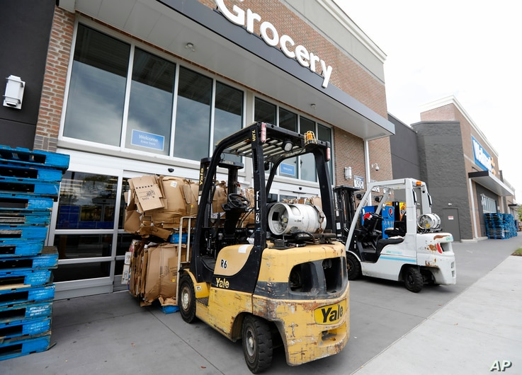 A Walmart in Mt. Pleasant, South Carolina  is and barricaded, after Gov. Henry McMaster ordered a mandatory evacuation due to Hurricane Florence, Sept. 11, 2018.