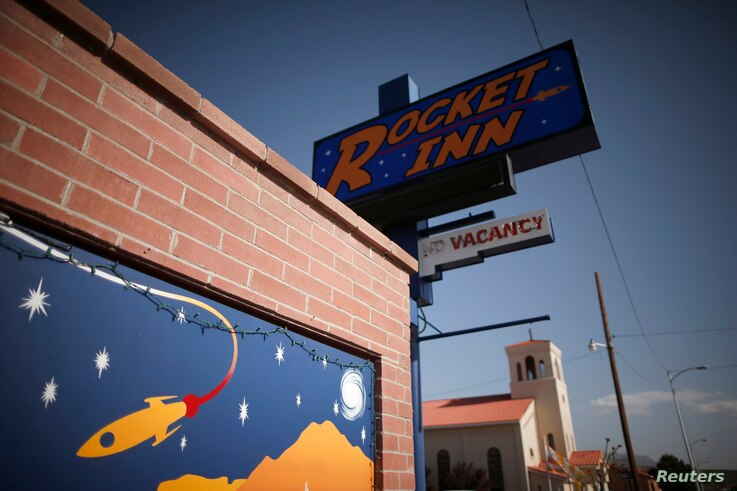 The Rocket Inn is seen in Truth or Consequences, New Mexico, May 1, 2014.
