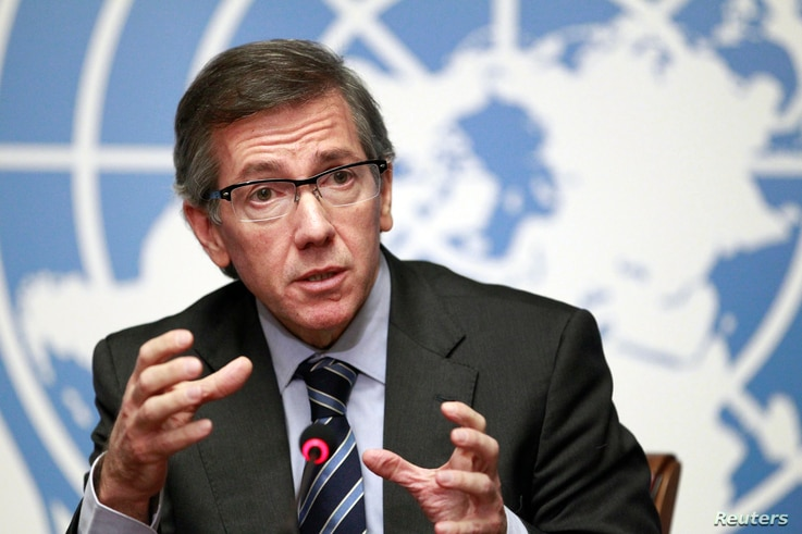 U-N secretary-general to Libya envoy Bernardino Leon talked to reports after the initial January 14 negotiation between some of the militias and officials of the divided country.