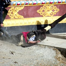 This photograph was provided by the activist group Students For a Free Tibet and cannot be independently verified, January 24, 2012.