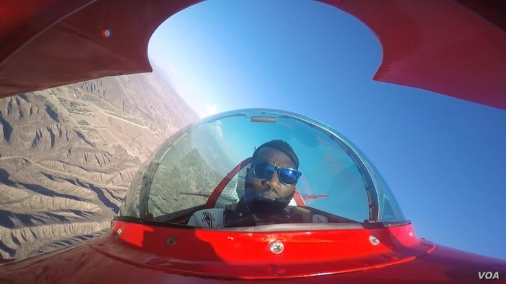 Antony Oshinuga's passion is aerobatic flying in his Pitts Special aircraft.  He has competed in national competitions in Texas and Nevada. (Photo courtesy Antony Oshinuga)