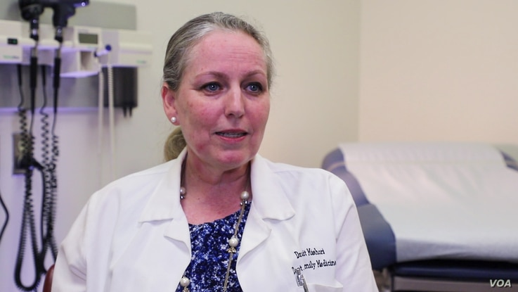 Ranit Mishori, a physician and Georgetown University professor of family medicine, recommends asking patients about FGM 'in a nonjudgmental way.' (K. Choudhury/VOA)