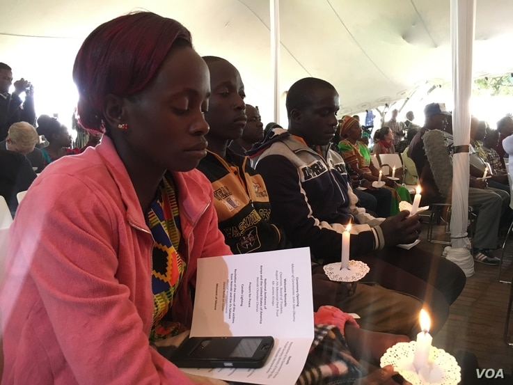 Survivors and families of the victims of the 1998 U.S. embassy bomb attack in Nairobi, Kenya, spoke of forgives but urged others never to forget the event that shattered their lives. (M. Yusuf/VOA)