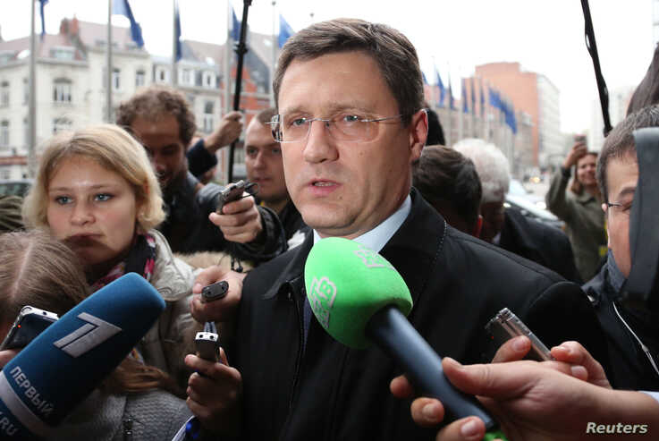 Russian Energy Minister Alexander Novak arrives for gas talks between the European Union, Russia and Ukraine at the EU Commission headquarters in Brussels, October 29, 2014.