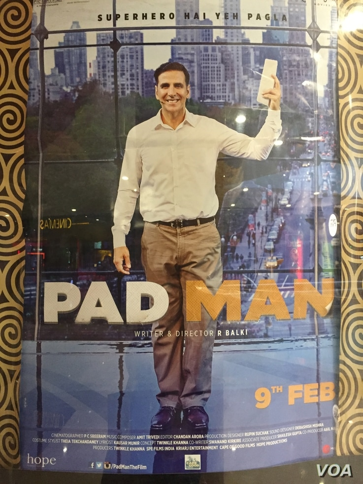 """The Bollywood movie """"Padman,"""" dubbed the first film on menstruation, stars Akshay Kumar and tries to break the silence around the subject."""