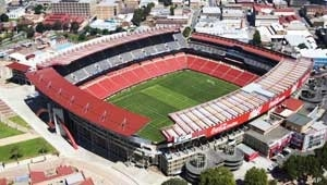 Johannesburg's Ellis Park stadium, where Nigeria meets the mighty Argentina in a World Cup group game on June 12th....Near the Nigerian stronghold of Hillbrow