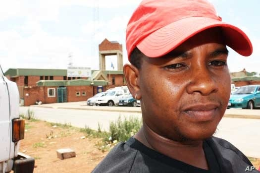 "Phumzile Nkosi, a member of the Coalition of African Lesbians in Vosloorus, South Africa, claims that the local police are ""homophobic"""