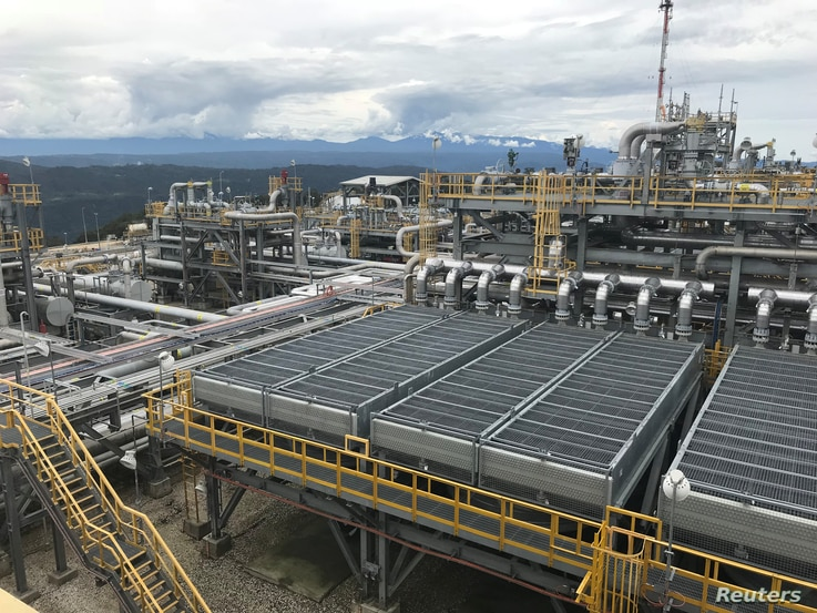 The ExxonMobil Hides Gas Conditioning Plant process area is seen in Papua New Guinea in this handout photo dated March 1, 2018.