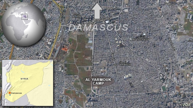Yarmouk refugee camp, near Damascus, Syria
