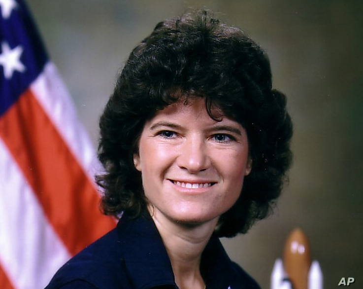 FILE - This undated photo released by NASA shows astronaut Sally Ride. Ride, the first American woman in space.