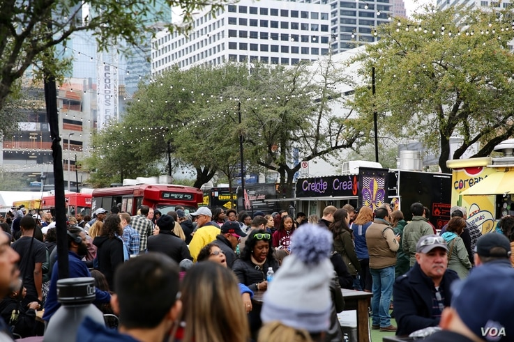 Discovery Green, a park in downtown Houston hosting the Super Bowl Live fan festival, wasn't around the last time the city hosted a Super Bowl in 2004. The former parking lot is now a focal point of a revitalized and revamped downtown Houston. (B. Al...
