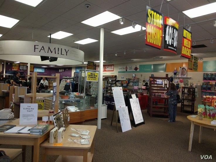 Going-out-of-business sale at a Family Christian Store in Simi Valley, California, April 2017. (Photo by DoulosBen via Wikimedia Commons)